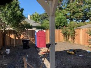 Wood Fence Under Construction