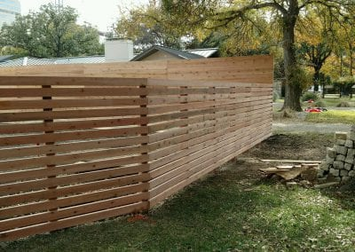 private wood fence