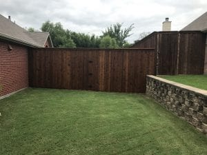 private wood fence with gate