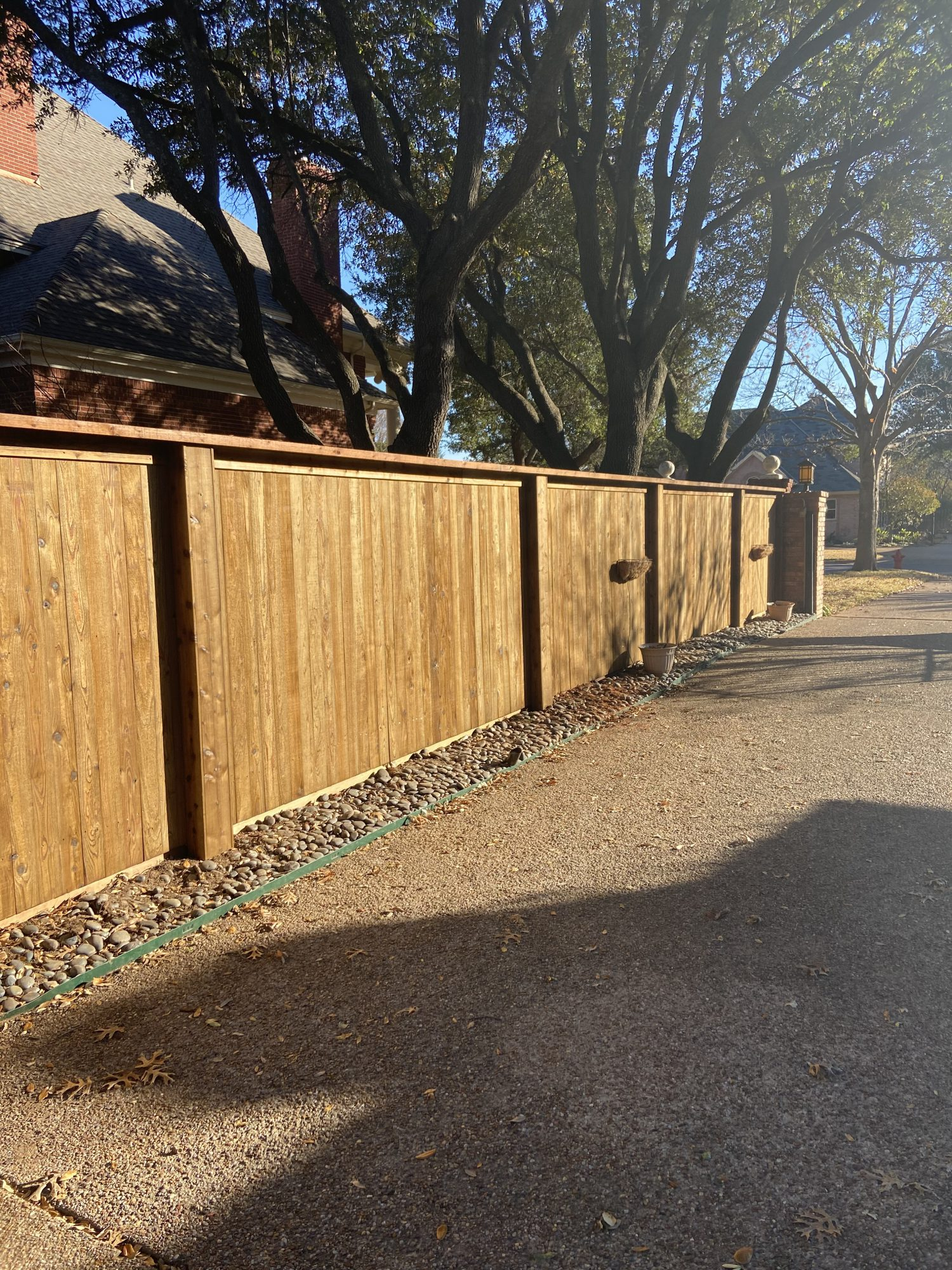 wood fence in texas