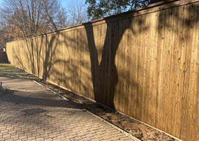 wooden fence installation in dallas