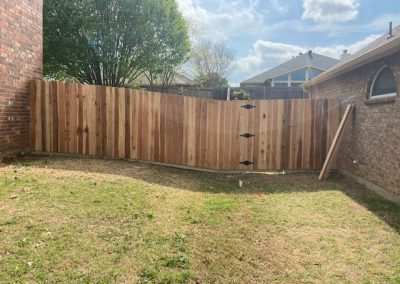 Japanese Cedar Wooden Fence (crc) with gate