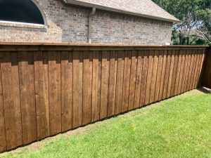 Stained Japanese Cedar Fence (crc) In Dallas