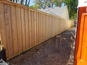 Japanese Cedar Wooden Fence (crc) under construction