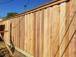 Japanese Cedar Wooden Fence under construction