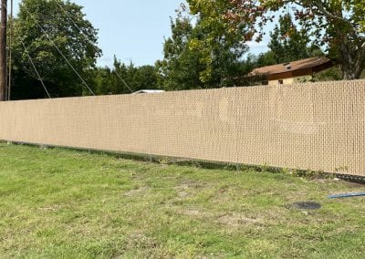 Chain Link Fence With Wood Panels